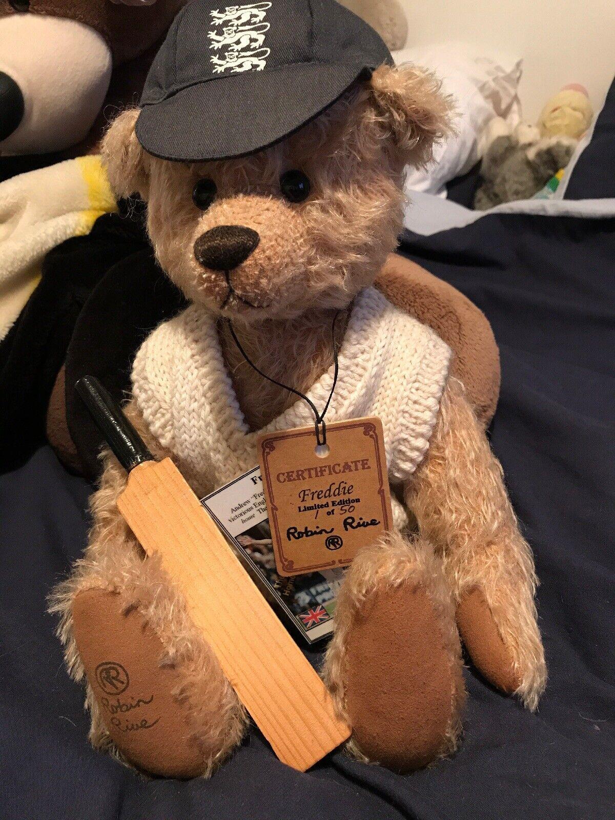 Collectors Teddy Bear Robin Rive Freddie Flintoff 1 Of 50