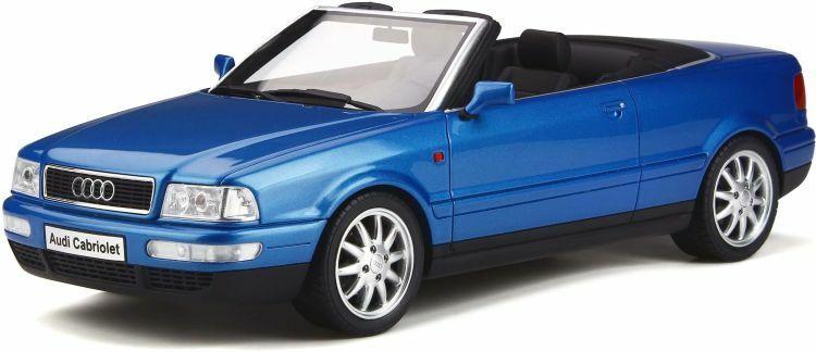 OTTO MOBILE 825 AUDI A80 CABRIOLET resin Modelll car KingFischer Blau 1 18th scale