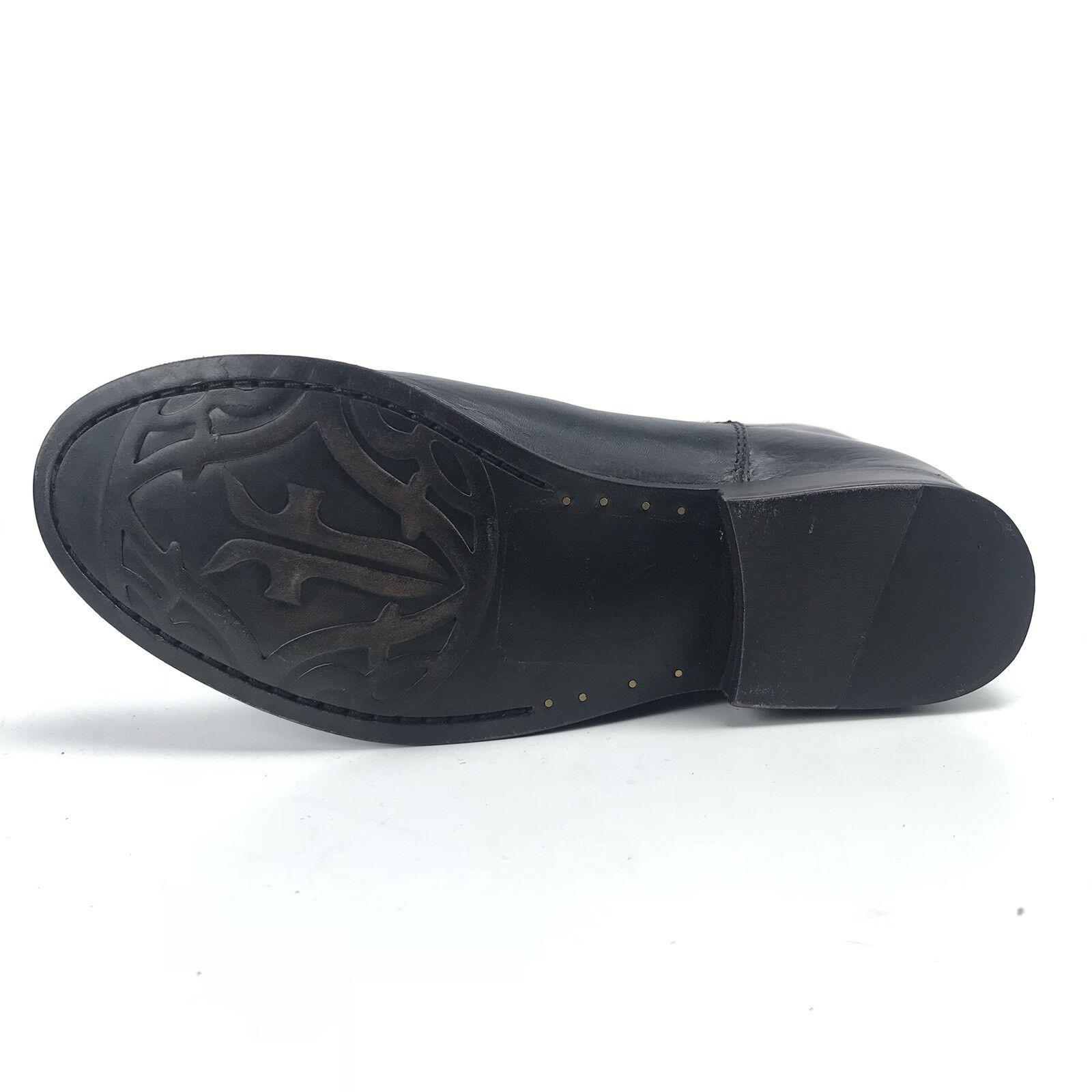 Frye Womens Boots 6.5 Melissa Logo Logo Logo Black Brown Antiqued Polished Leather Rare 8edceb
