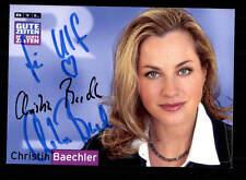 Christin Baechler GZSZ Autogrammkarte Original Signiert # BC 88017