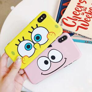 sale retailer c8f95 b7017 Details about Cute SpongeBob Patrick Star Phone Case Cover For iPhone X XS  XR Max 8 7 6 Plus