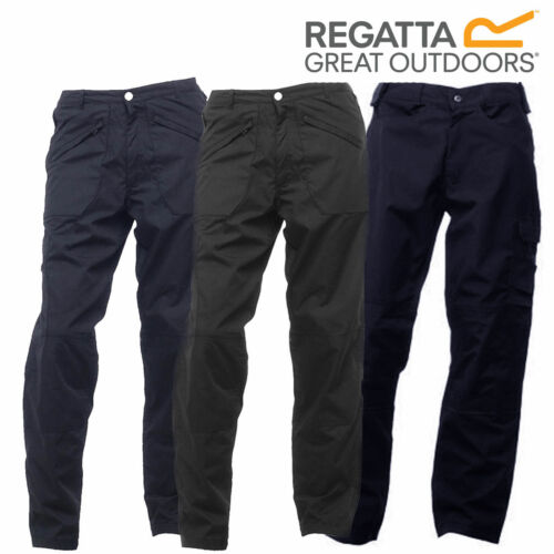 Regatta Mens Fleece Lined Poly Cotton Mens Action Trousers Multi Pocket