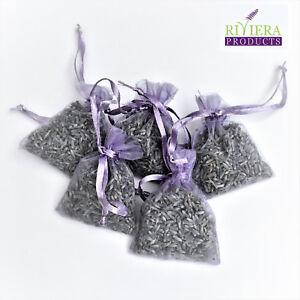 12-di-alta-qualita-Lavanda-fresca-in-Hand-Made-lilla-organza-sacchetti