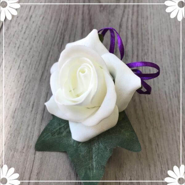 * Kealy Collection * Nuziale Sposo Occhiello Fiore Pin Cadbury Viola Ultimo Stile