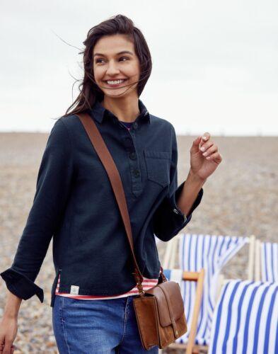 NAVY Size 6 Joules Womens Ashbrook Pop Over Deck Shirt