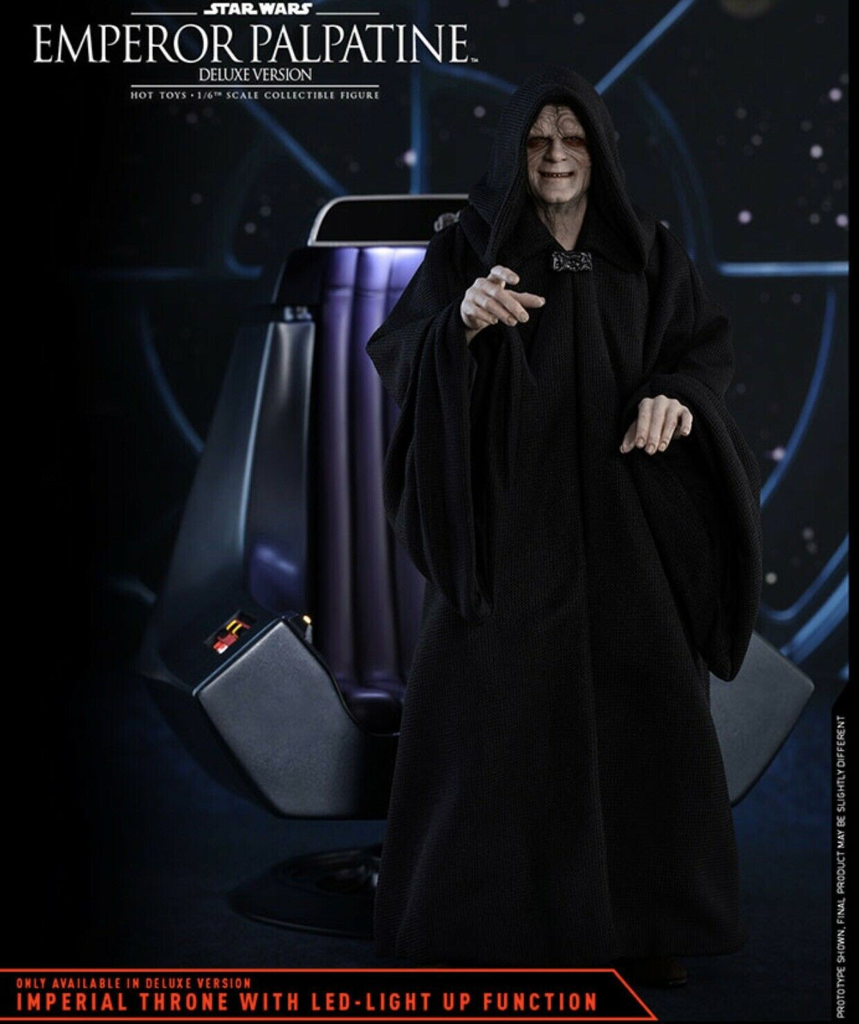 Emperor Palpatine Deluxe Version STAR WARS 1 6 Figure Hot Toys 903110 Brand New