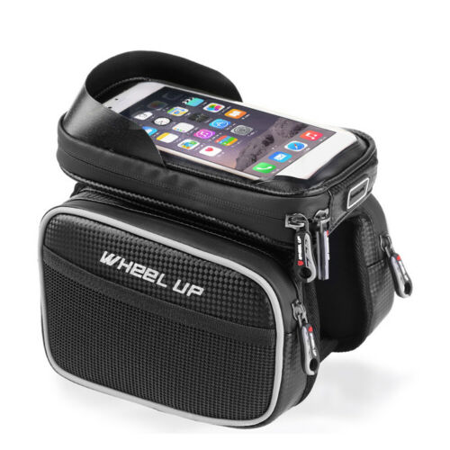 Cycling Bike Bicycle Frame Pannier Front Tube Pouch Bag Mobile Phone Holder Case