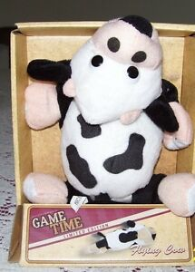 new game time flying cow slingshot dog cat people toy read