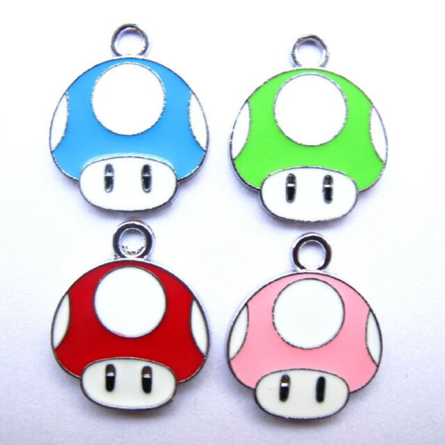 Lot 100 Pcs Super mario Bros DIY Metal Charms Jewelry Making pendants Gifts Y61