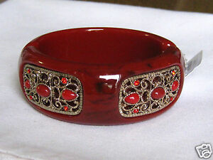 Red-Acrylic-and-Crystal-Fold-Over-Cuff-Bracelet