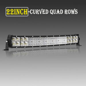 Quad-Row-22inch-2880W-Curved-LED-Light-Bar-Spot-Flood-Truck-Offroad-VS-52-034-42-034-32-034
