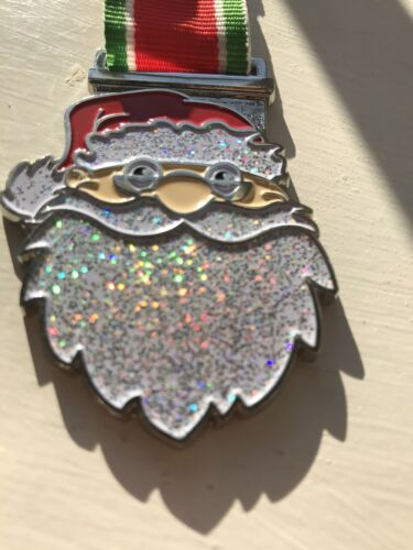 Sparkly Santa Medals