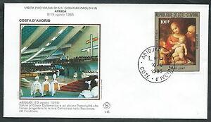 AgréAble 1985 Vaticano Viaggi Del Papa Costa D'avorio Abidjan - Sv