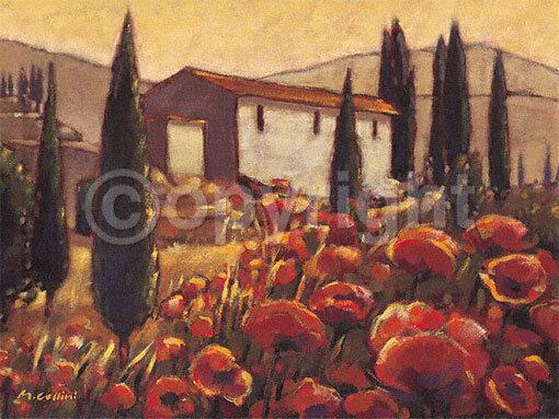 Mauro Cellini    L 'allegria ITALIANA COMPLETO - 60x80 Immagine Muro Immagine Toscana Italia 5a89cf