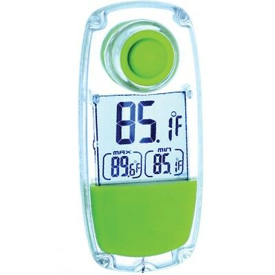 LifeMax Solar Window Thermometer Waterproof Indoor Outdoor LCD Garden Energy