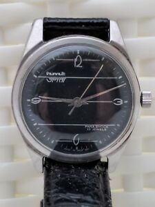 Vintage-HMT-Janata-black-17-jewels-mechanical-hand-wind