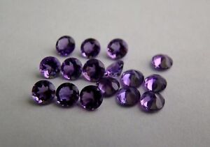 Natural-Amethyst-5mm-Round-Faceted-Cut-5-Pieces-Purple-Color-Loose-Gemstone-A