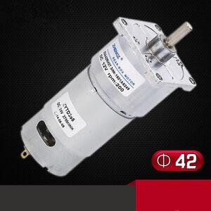 ZGA42RG Permanent Magnet DC Gear Motor 42mm 12V-24V Output Shaft Center