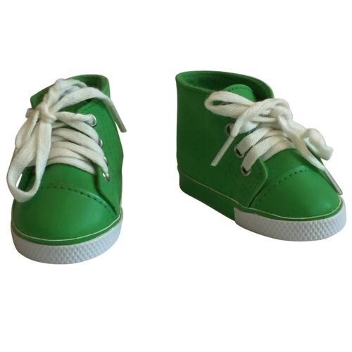 18 Inch Doll Sneakers in Suede Green Fits  For American Girl Dolls