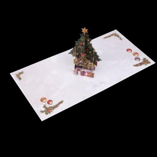 Handgemachte 3D Knallen Oben Karten Frohe Weihnacht Baum Dank Feiertags Geschenk