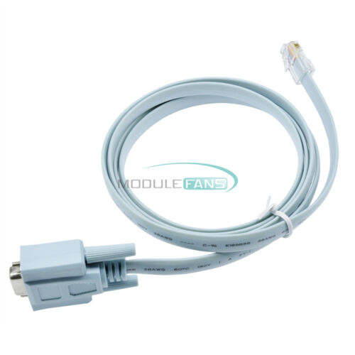DB9 Rs232 to RJ45 Converter Ethernet Adapter Wire for Routers Network