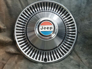 1-OEM-60-80-039-s-JEEP-15-034-STAINLESS-STEEL-METAL-HUBCAP-4X4-RED-WHITE-AND-BLUE