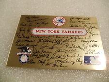 """1978 New York Yankees Facsimile Signature plaque 3 1/2"""" x 2 3/8"""""""