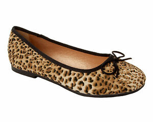 59e38b405ee WOMENS LEOPARD PRINT FAUX SUEDE FLAT DOLLY BALLET PUMPS SHOES LADIES ...