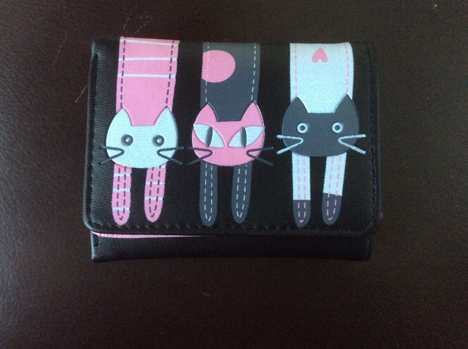 NEW CAT PURSE/WALLET in Black And Pink