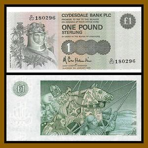 SCOTLAND £10 Pounds Royal Bank Scotland Clydesdale Set x 3 UNC Polymer Banknotes