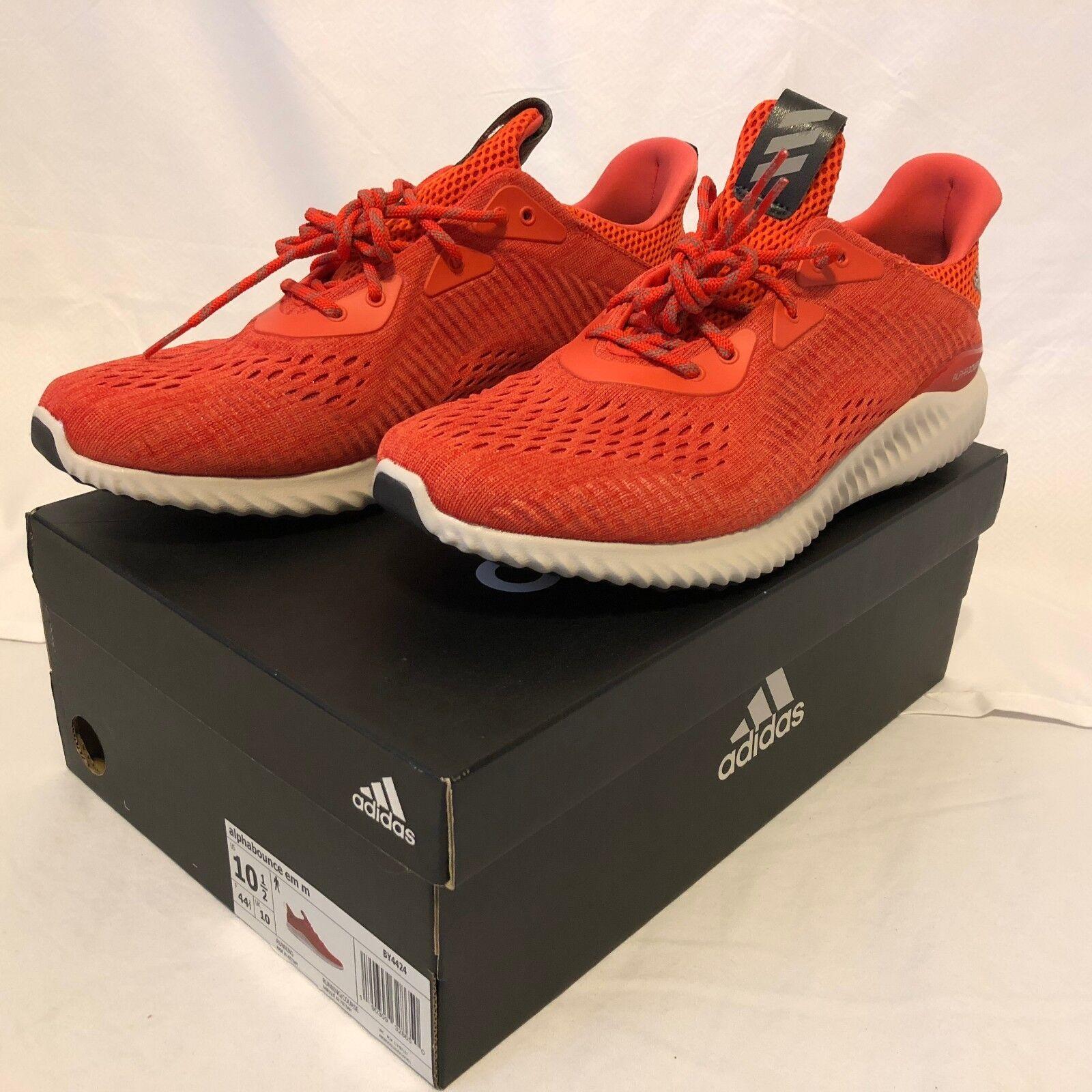 Adidas Men's Alphabounce Em M Blaze orange Red Running shoes Size 10.5 - New