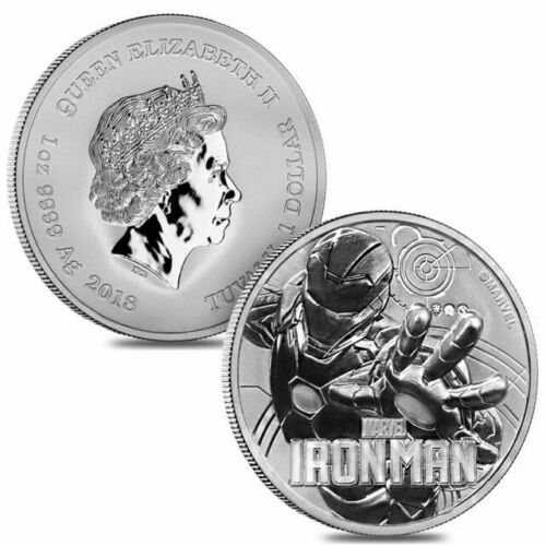 BU 2018 Tuvalu Marvel Series Thor 1 oz Silver $1 Coin In Mint Cap