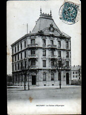 "BELFORT (90) Façade de la BANQUE ""CAISSE D'EPARGNE"" en 1904"