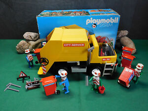 Playmobil *** rareté *** City Service Klicky (camion à ordures) 3470-a / 1978 Avec OVP!