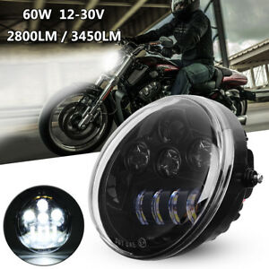 LED-60W-Headlight-Hi-Lo-For-Harley-Davidson-Vrod-V-Rod-V-ROD-VRSC-VRSCDX-VRSCA