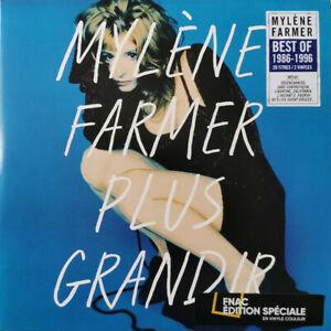 Mylène Farmer 2xLP Plus Grandir - Tirage Limité Vinyles Blancs - France
