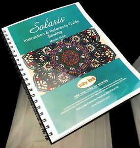 Details about Baby Lock Solaris SEWING Instruction & Reference Guide -BLSA-  COLOR COPY Manual