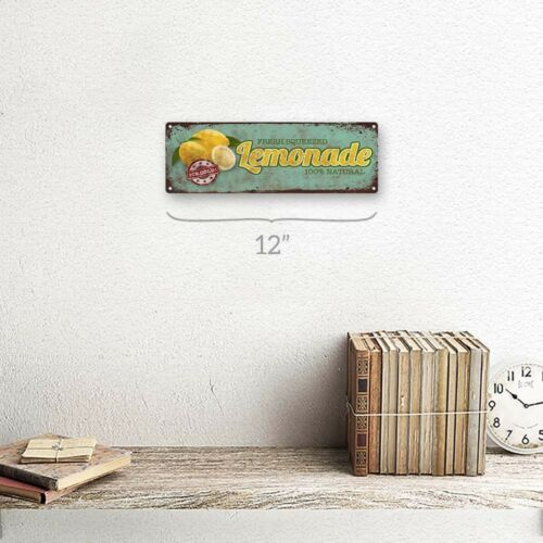 Fresh Squeezed Lemonade Metal Sign; Wall Decor for Kitchen and Dinning Room