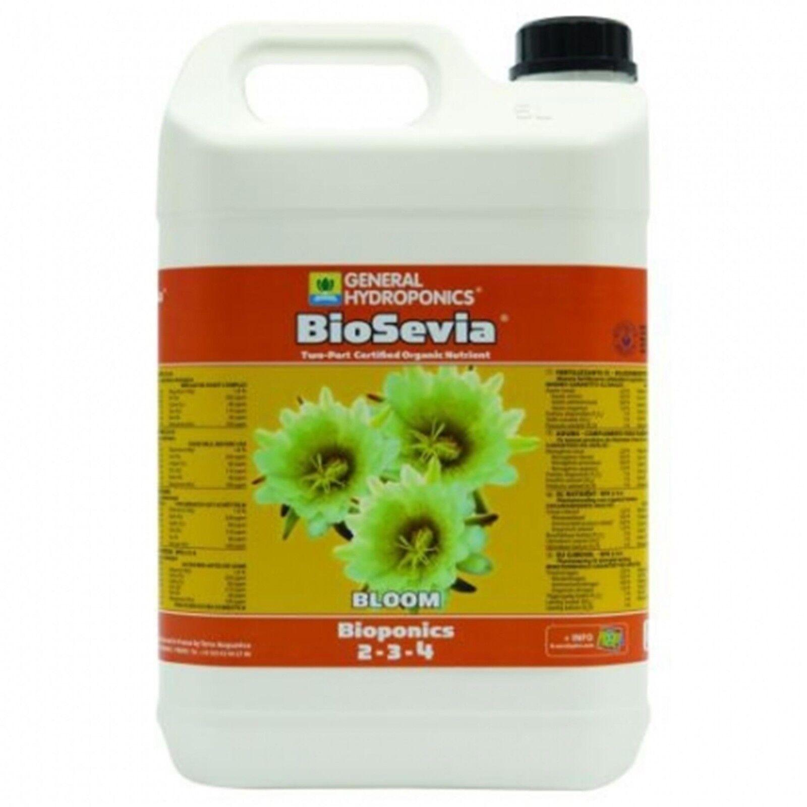 10 Liter GHE BioSevia Bloom biologischer Hydroponik Dünger Blütephase Bloom Grow