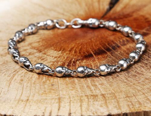 I07 Armband Totenkopf Totenköpfe Schädel Silber 925
