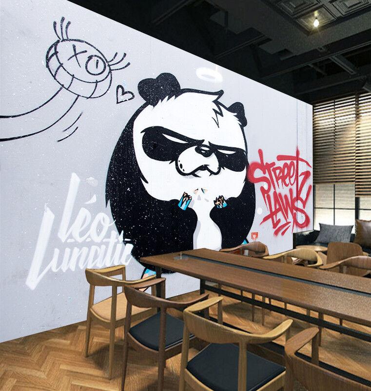 3D Uncle Panda 8 Wall Paper Murals Wall Print Wall Wallpaper Mural AU Summer