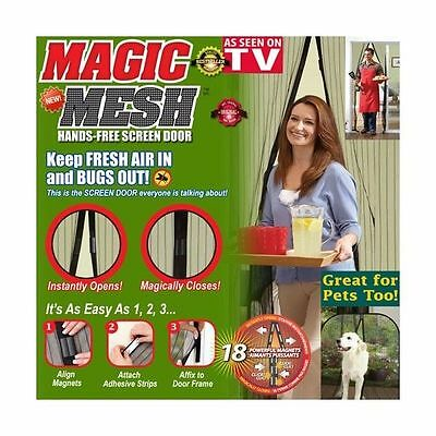 MAGIC MESH Cortina magnetica MOSQUITERA anti insectos VISTO EN TV  210 x 100 cm