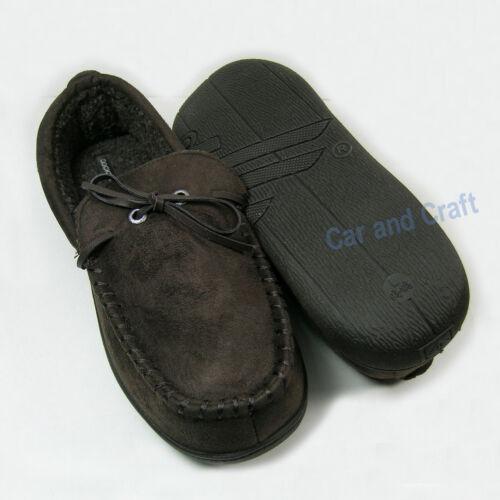 Genuine DOCKERS Men Microsuede Indoor Slippers Shoes Beige Grey Dark Brown Black