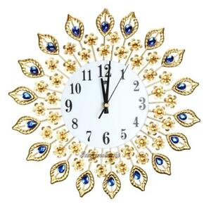 3D-Luxury-Diamond-Large-Wall-Clocks-Metal-Living-Room-Sticker-Home-Office-Decor
