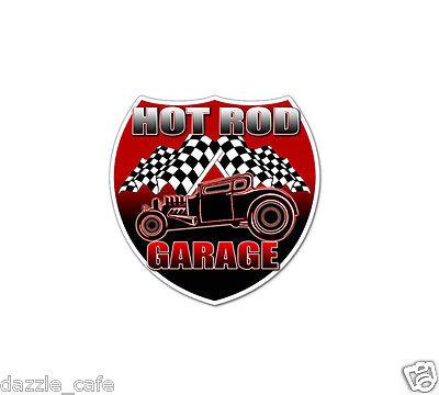 HOT ROD Garage 2-pack Vintage Style Restore Classic Car Decal Vinyl Sticker 602