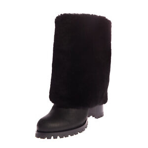 RRP-1030-CASADEI-Leather-Knee-High-Boots-EU-37-UK-4-US-7-Shearling-Lining