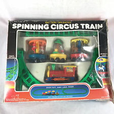 Vintage Spinning Circus Train Toy Battery Operated 1970s Diversified Specialists