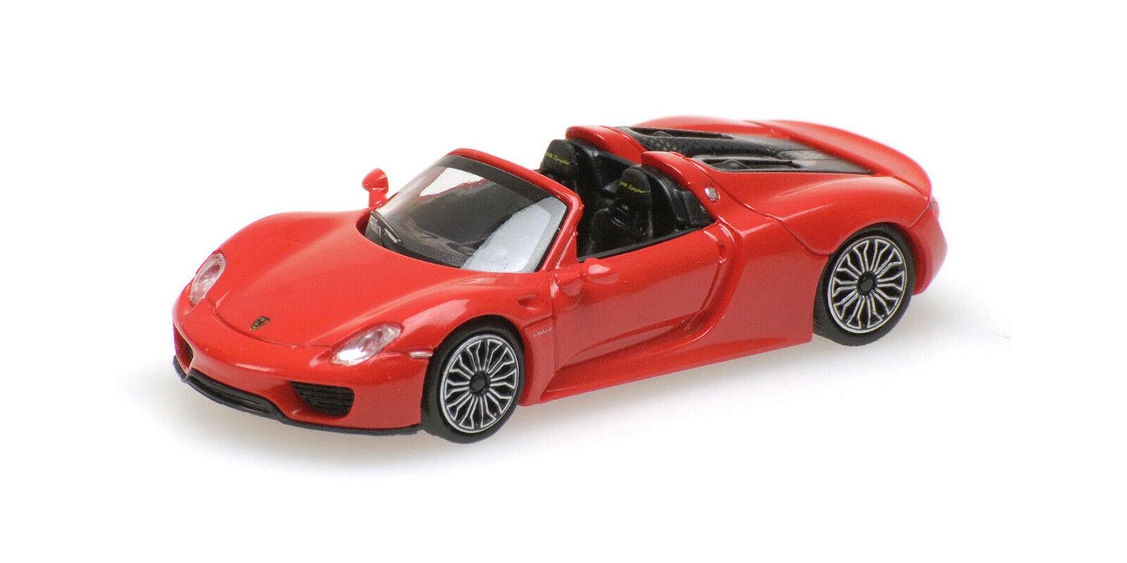 #870062132 Minichamps Porsche 918 Spyder 2013-1:87 Rot