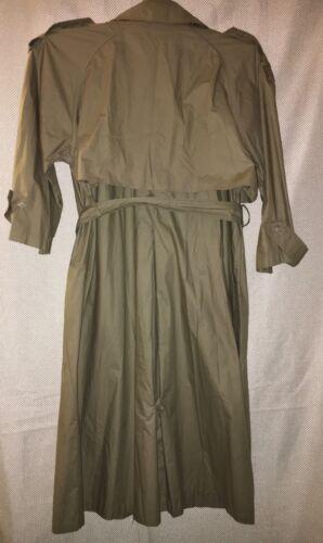 100 Anne Long Raincoat 12p Women's With Tie Af Cotton Klein Belt 5fzwxxqn