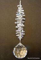 LARGE Crystal Ball Rainbow maker cascade suncatcher Swarovski Crystal elements